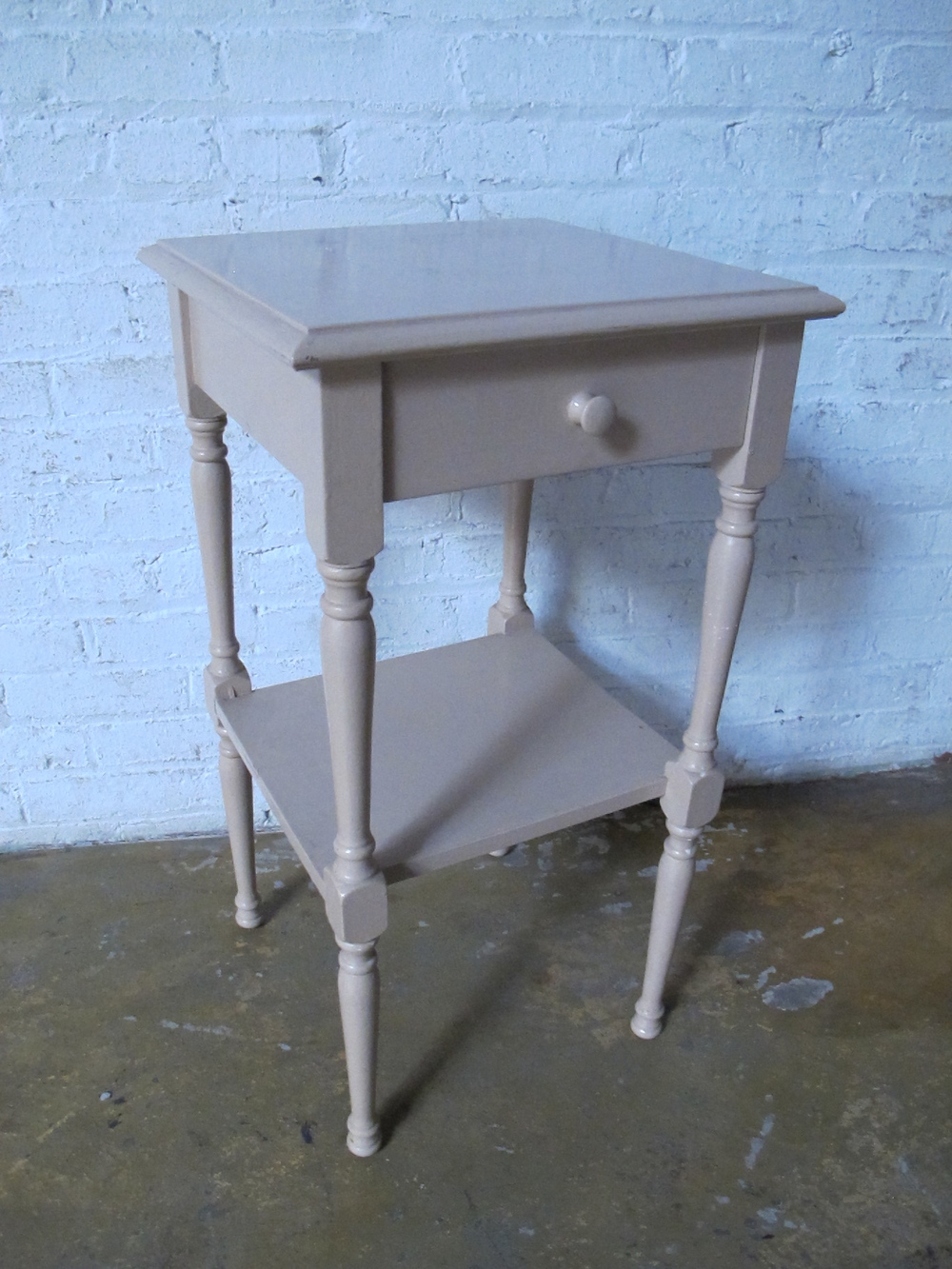 Beige Bedside Table