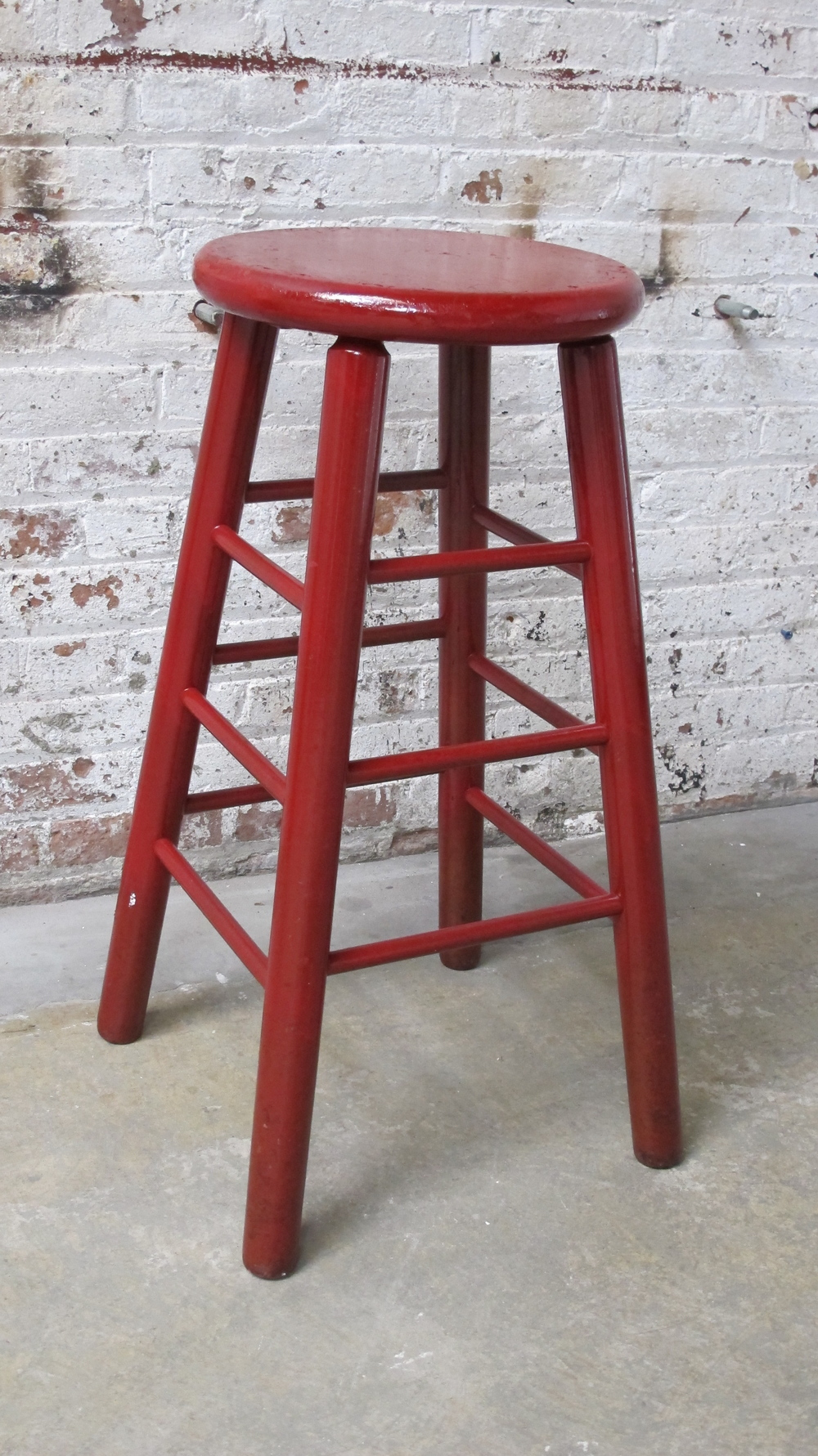fire engine red stool $40