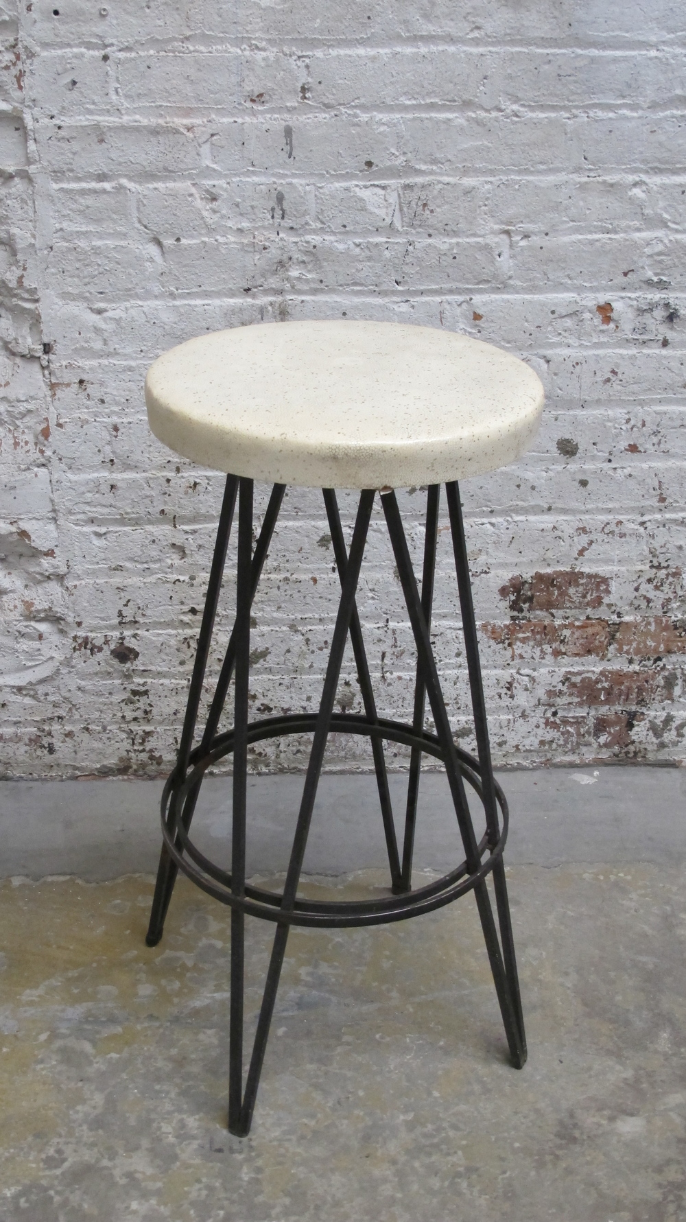 Cast Iron Stool with Sparkle Seat $75