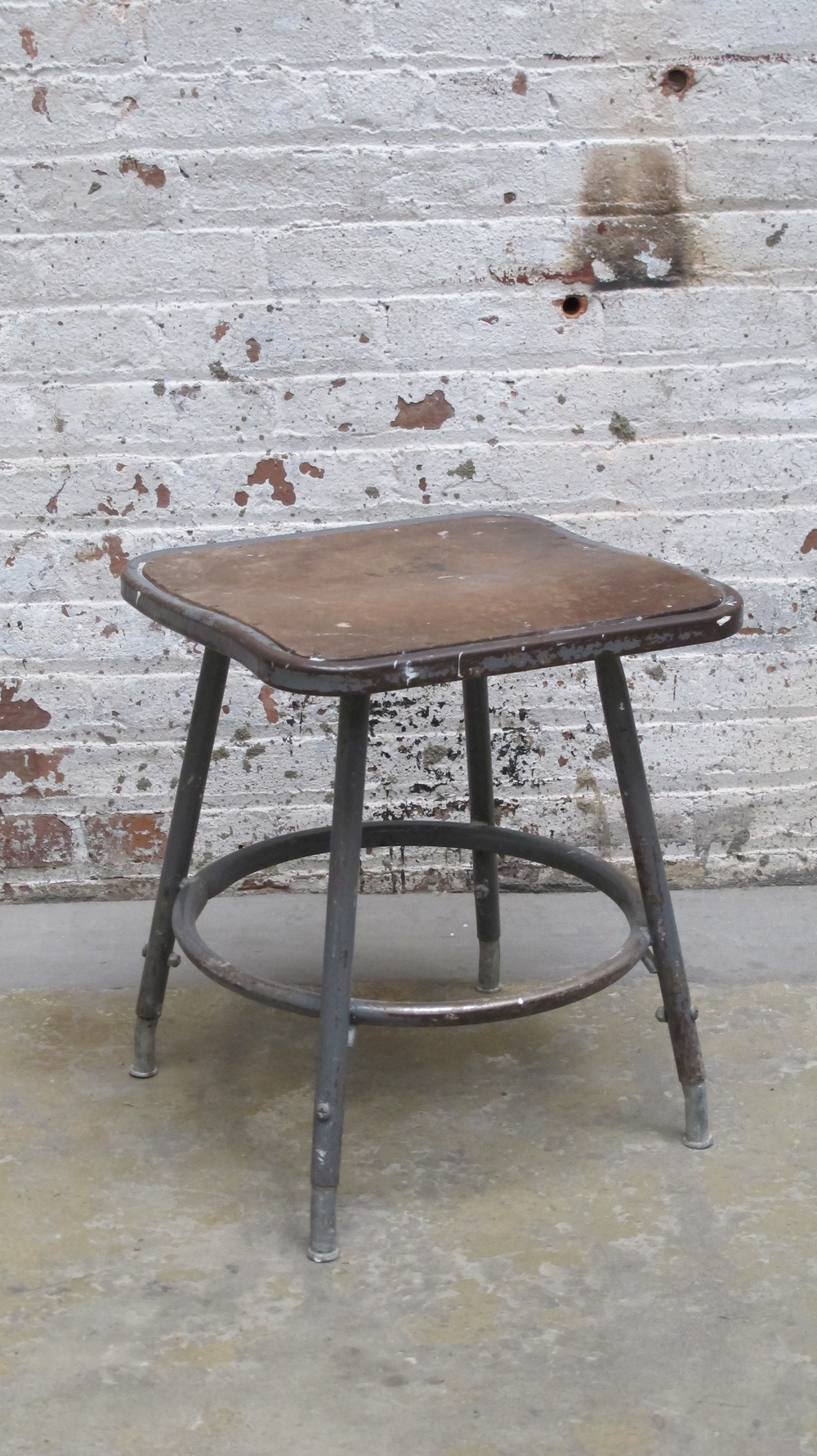 Short Metal Square Seat Artist Stool $40