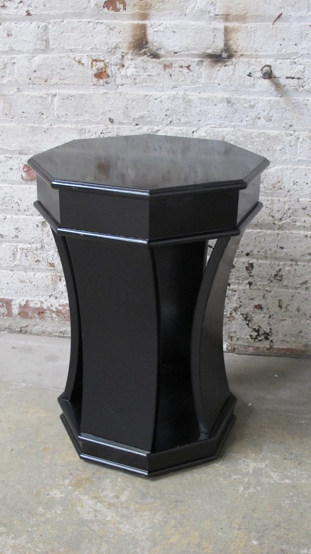 Octagon Top Side Table