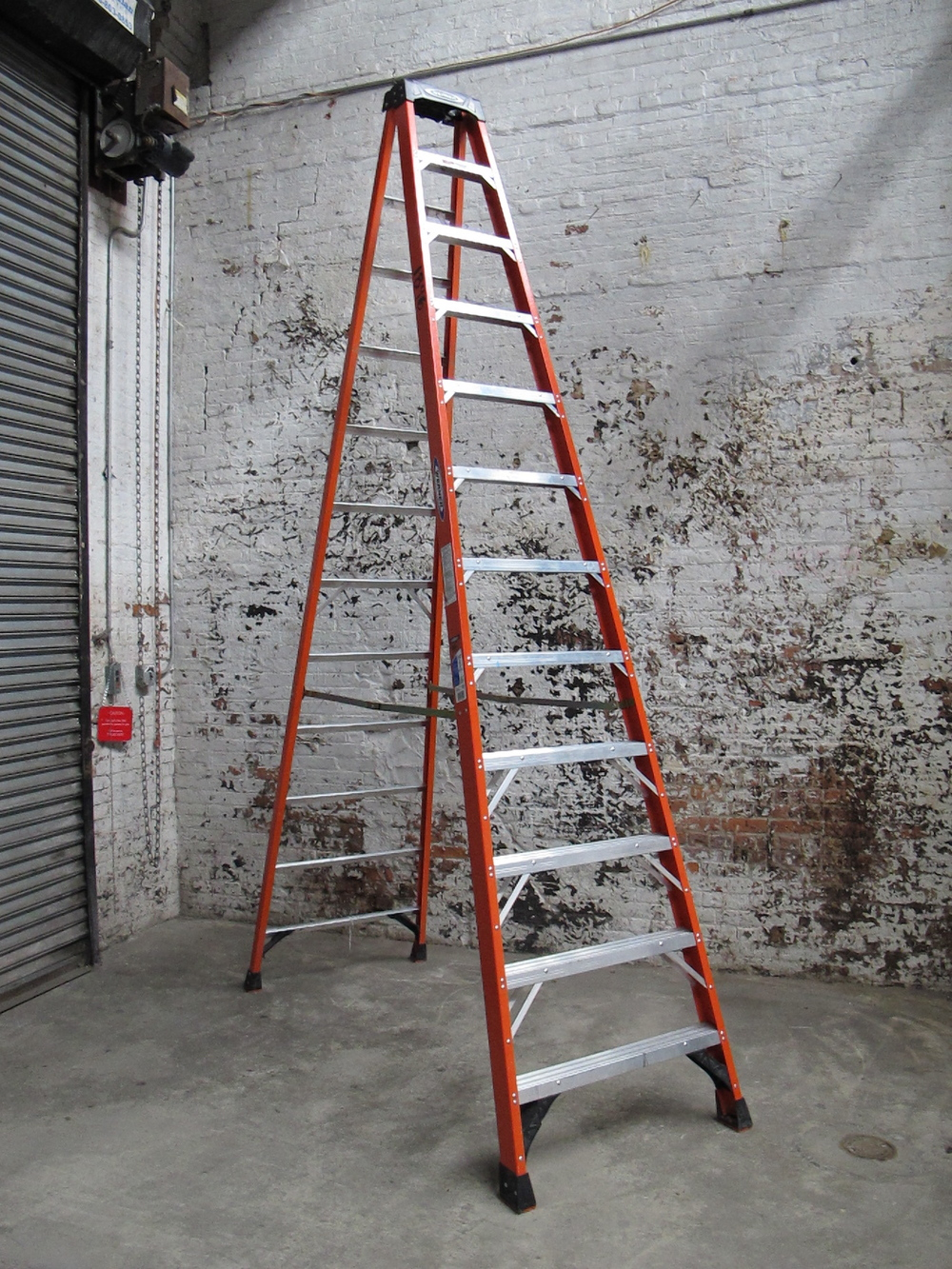 12-Step Orange Metal Ladder