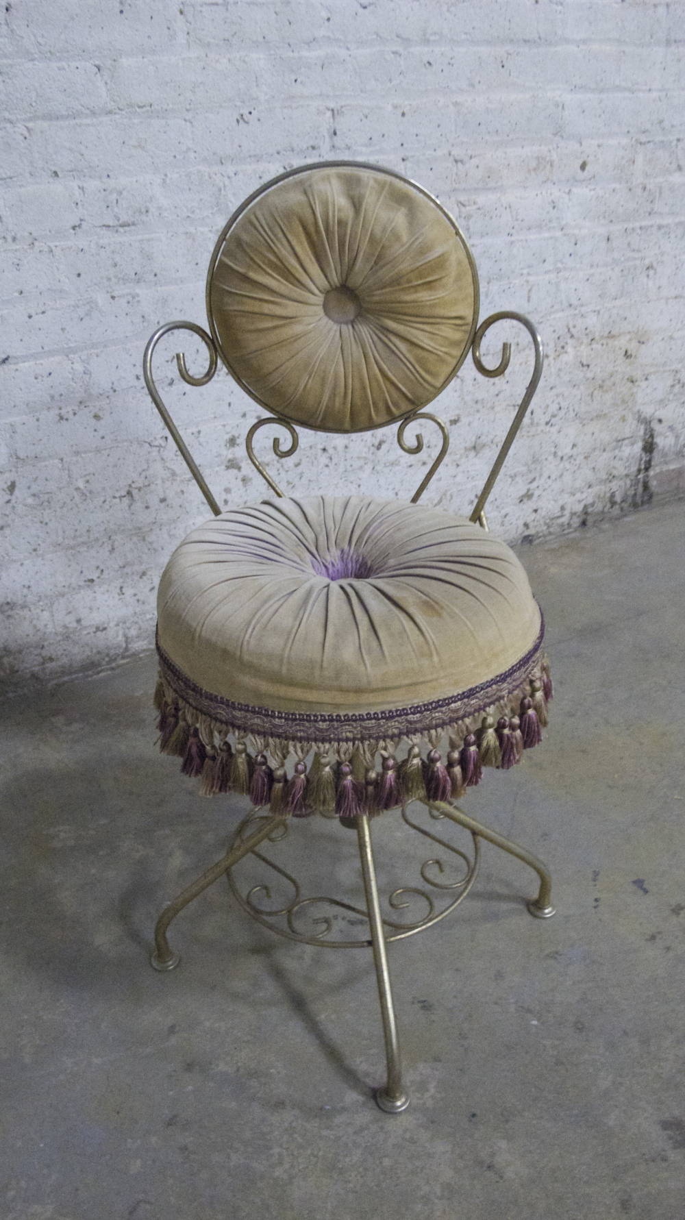 Velvet Powder Chair $35