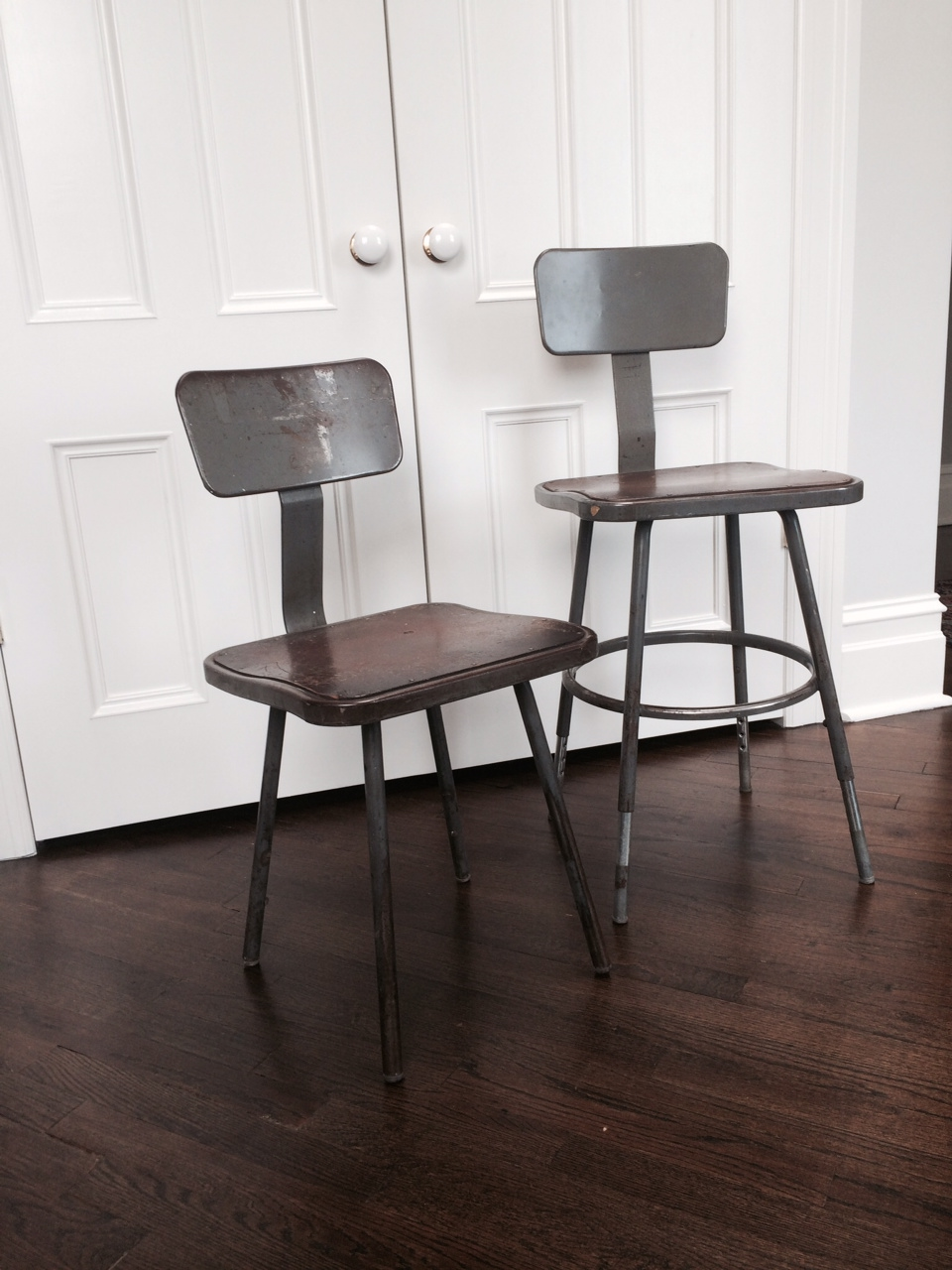adjustable height stools with backs $60/ea