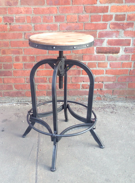 wood top adjustable height $125
