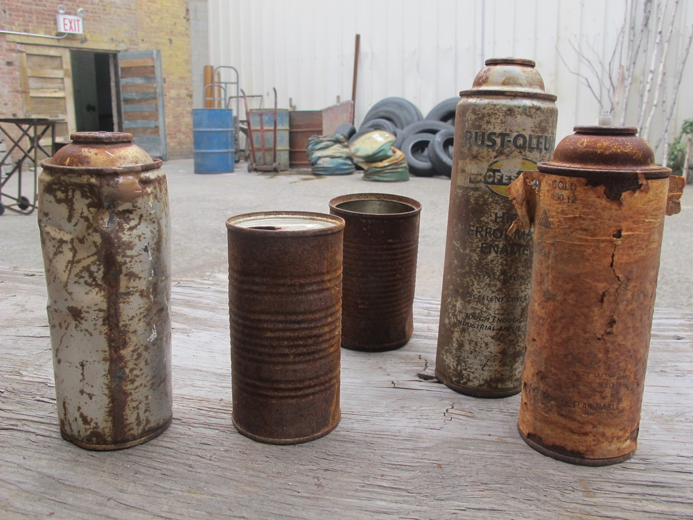 Small Rusted Cans