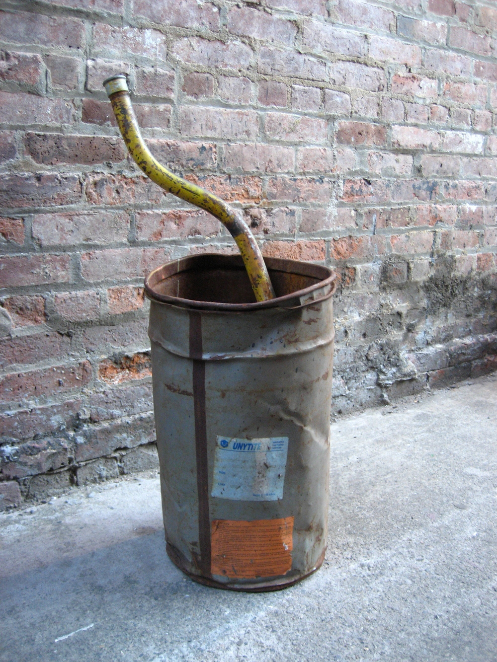 Metal Bucket and Pipe $5