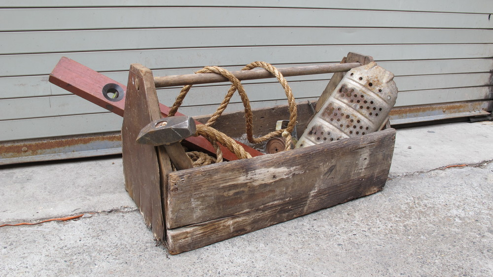Long Wood Toolbox $65