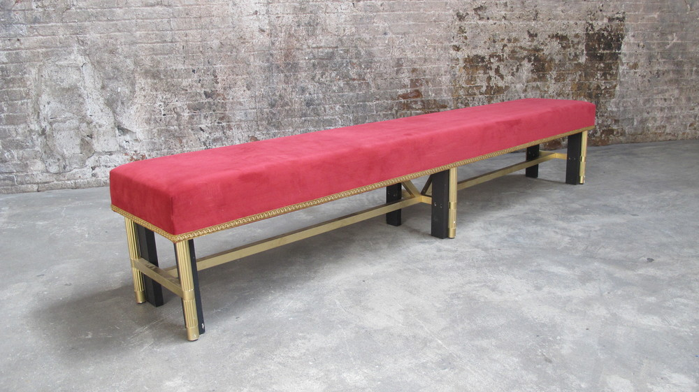Plush Red MJ Bench $80