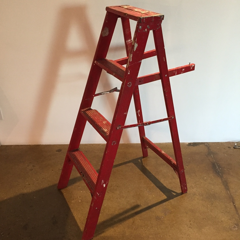 Red 4' Ladder $45