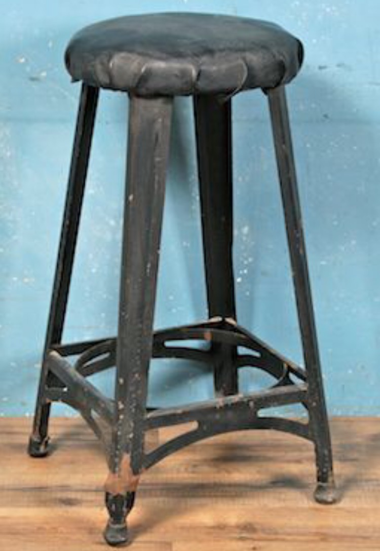 "24"" High ""jeremy"" metal stool $60"