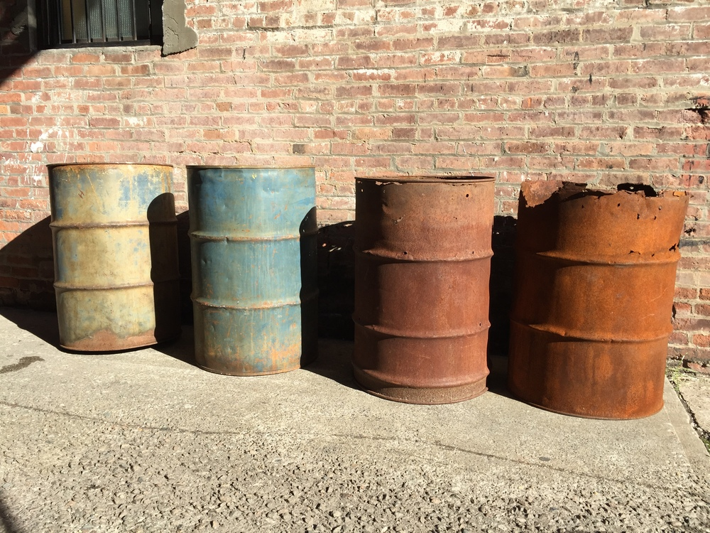 Rusted Metal Barrels $50/ea