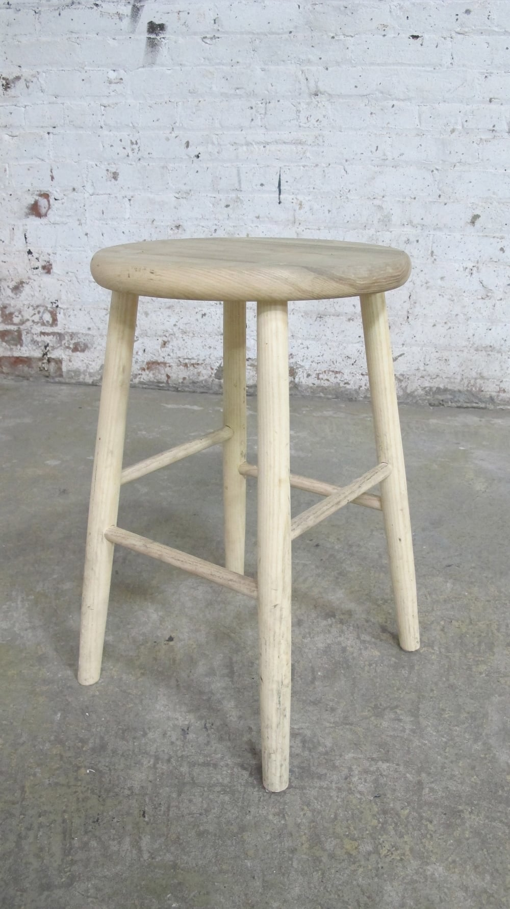 Raw Light Wood Stool copy $25