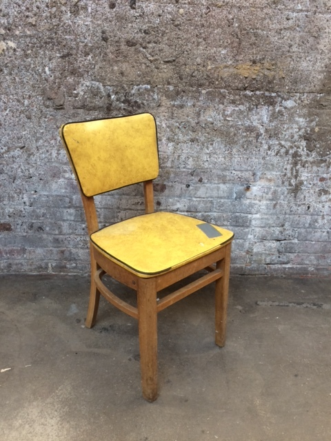 CN_Yellow Kitchen Chair $40