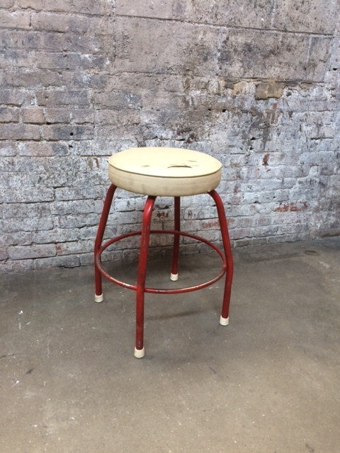 CN_Fat Squat Stool w/Red Legs $40