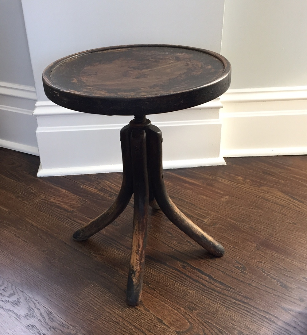 "RSS Adjustable Height Thonet stool/end table (18""- 23""h) $120"