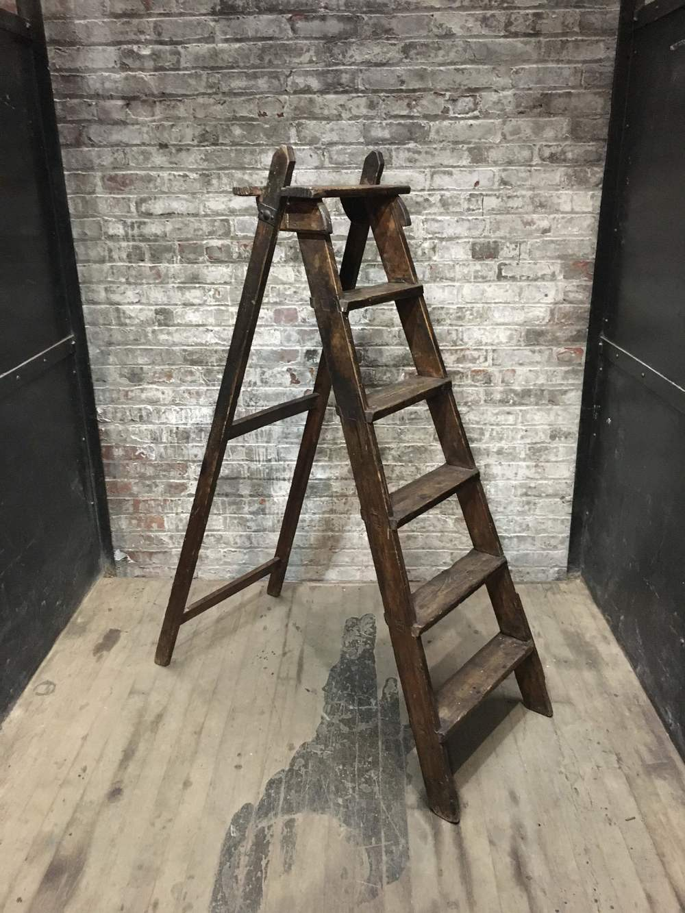dark wood ladder 75 rss swedish a frame 56h 240 - Wooden A Frame Ladder