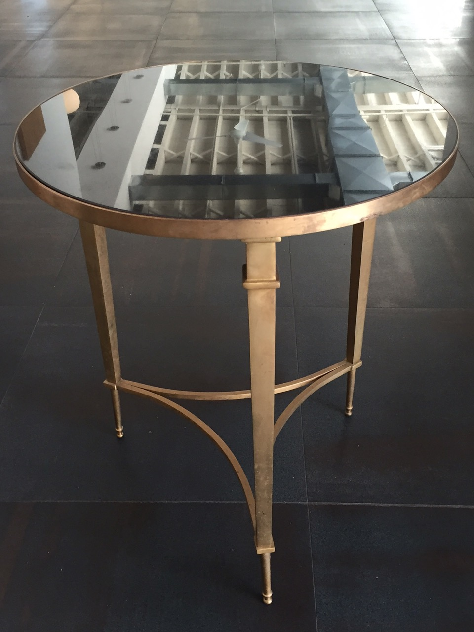 RSS Brass and Granite End Table $320