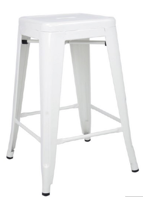 "RSS 24"" white stool $60"