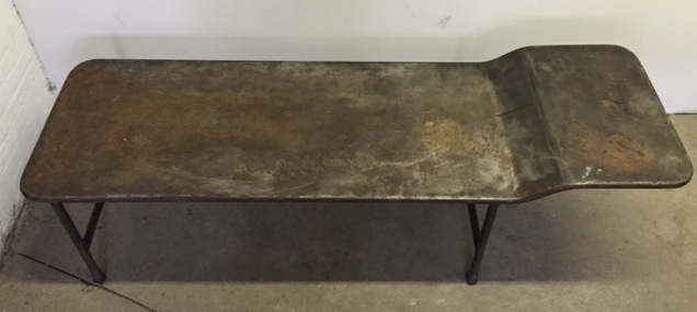 antique metal daybed with patina $300