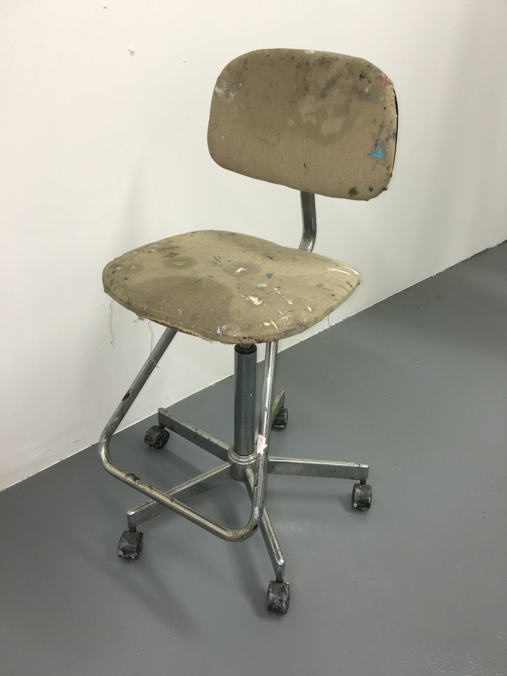 artist chair on wheels - $50