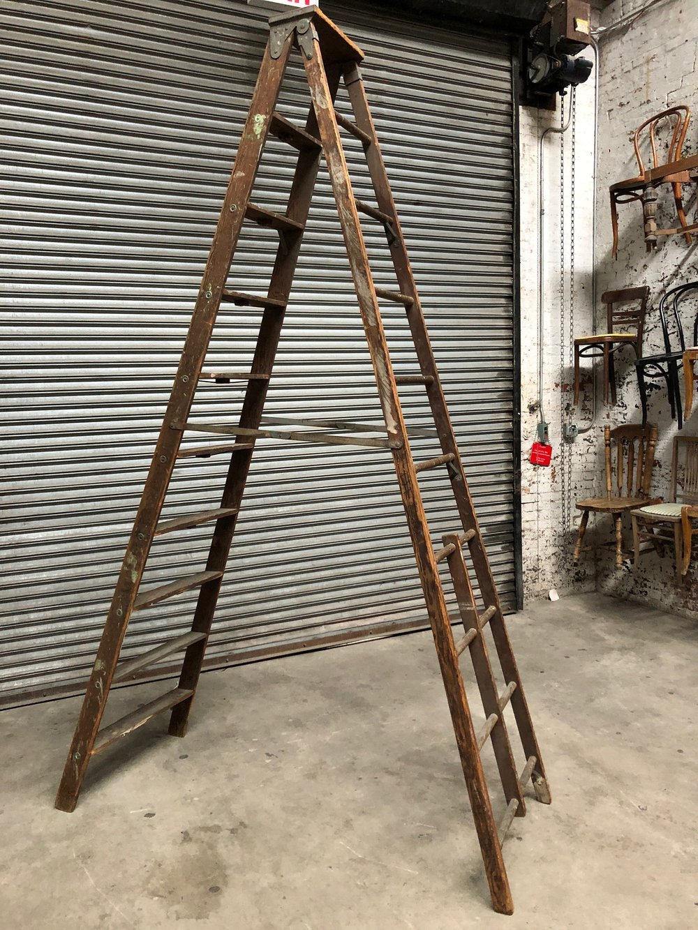 9-Step Wooden Ladder $80