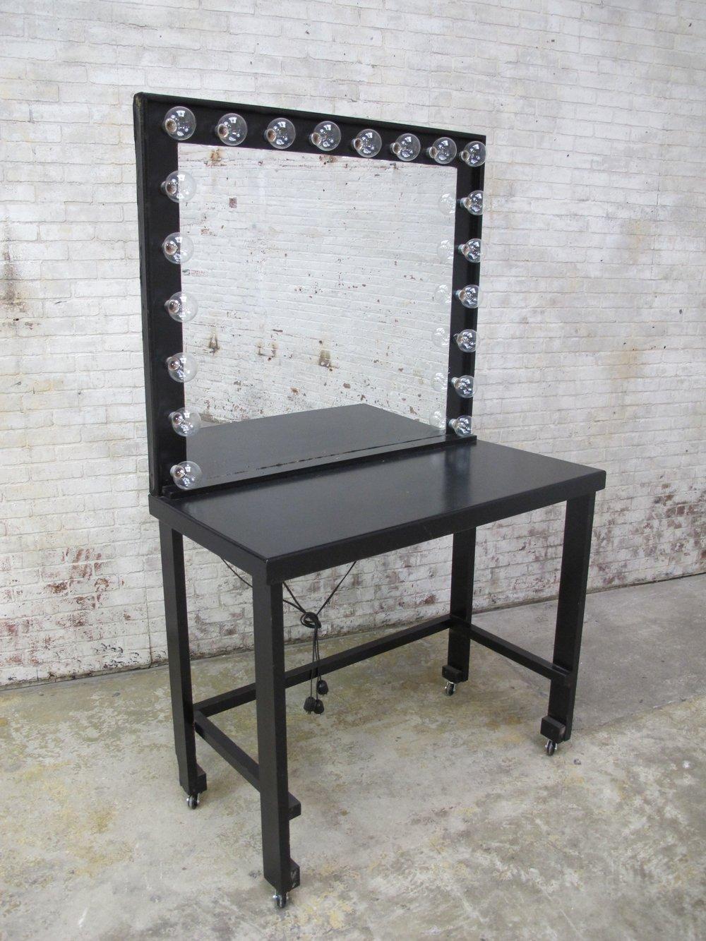 black Wooden Mobile Vanity $300