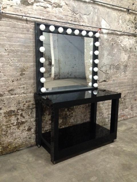 Tall Black Vanity $300