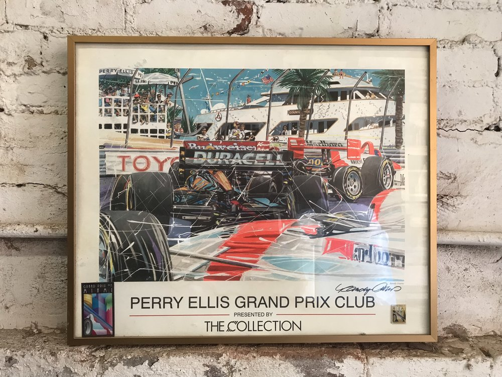 framed perry ellis grand prix Poster $60