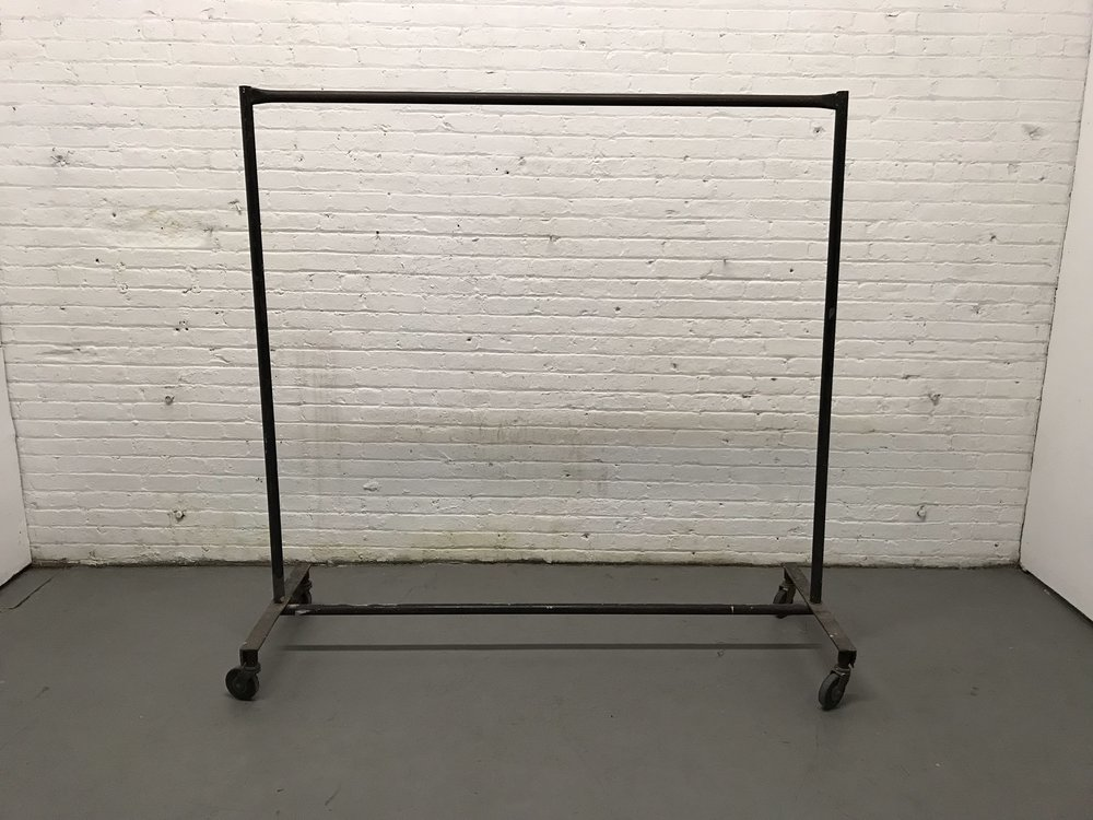 black metal garment rack $35