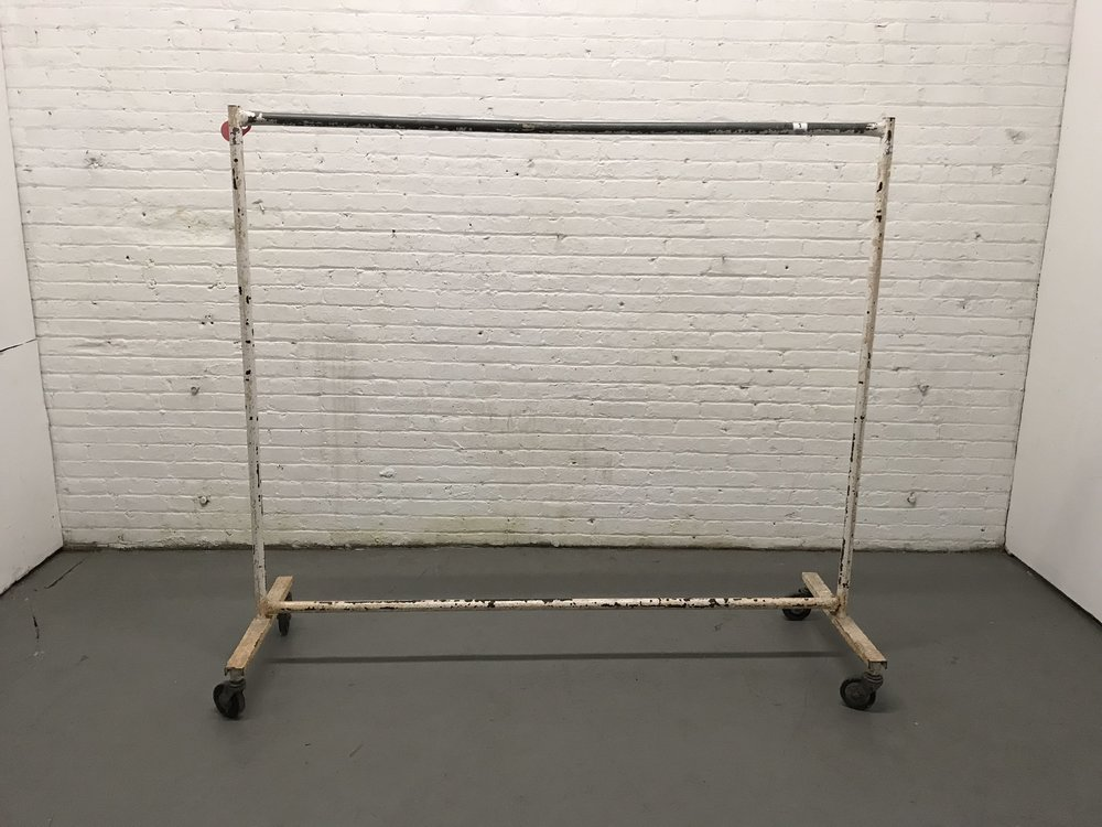 Long vintage garment rack $35