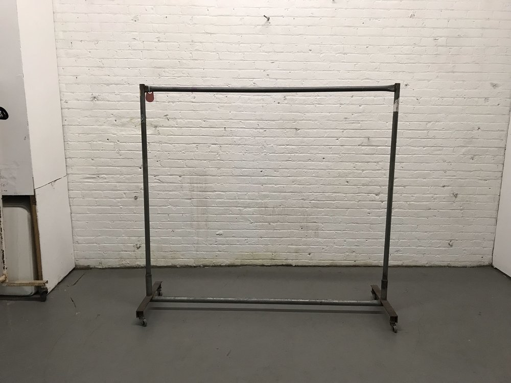 Grey metal garment rack $35
