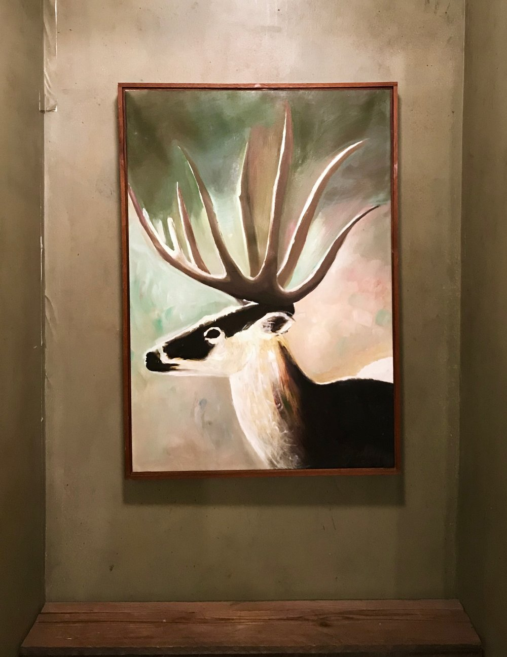 Framed caribou Painting $60