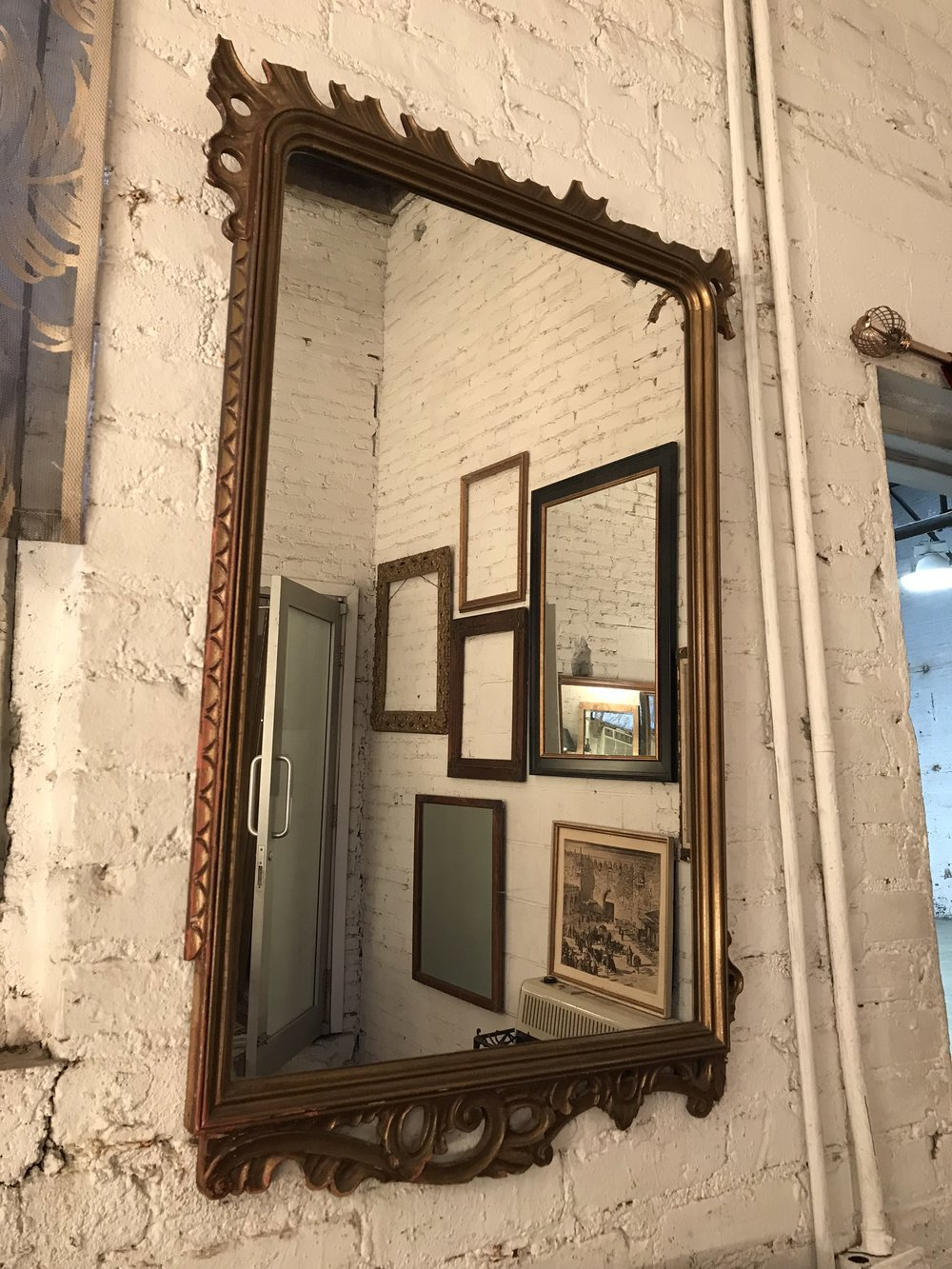 dark Gold Frame Mirror $80