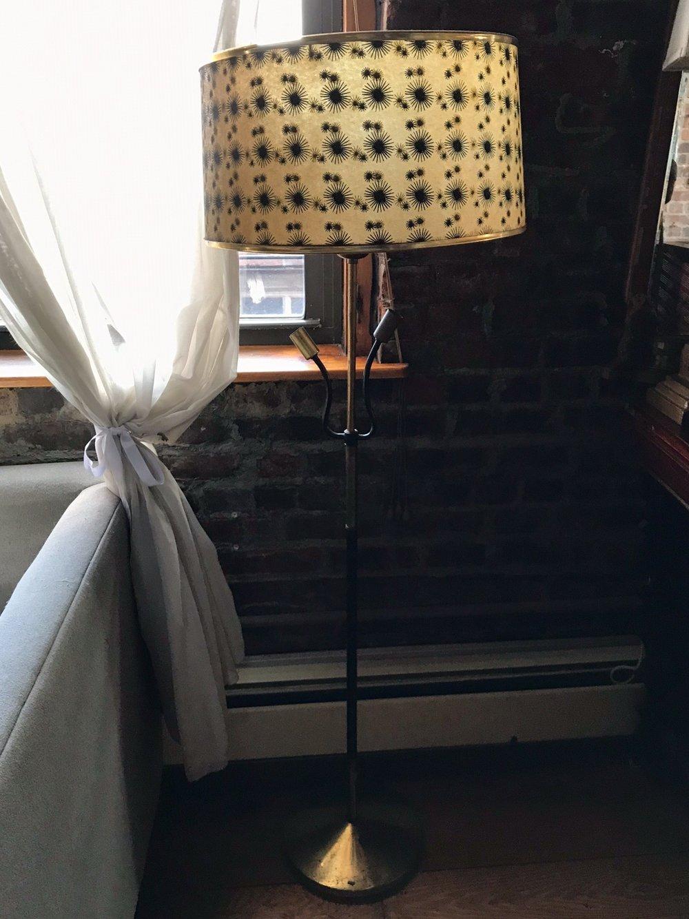 Starburst Pattern Standing Lamp
