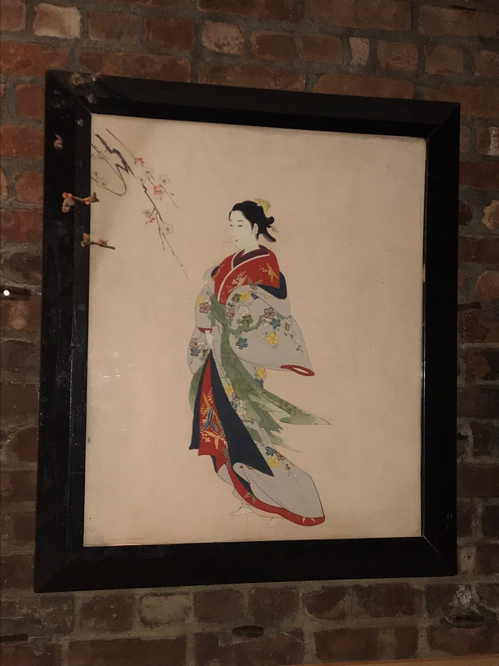 Framed Japanese Figure Painting