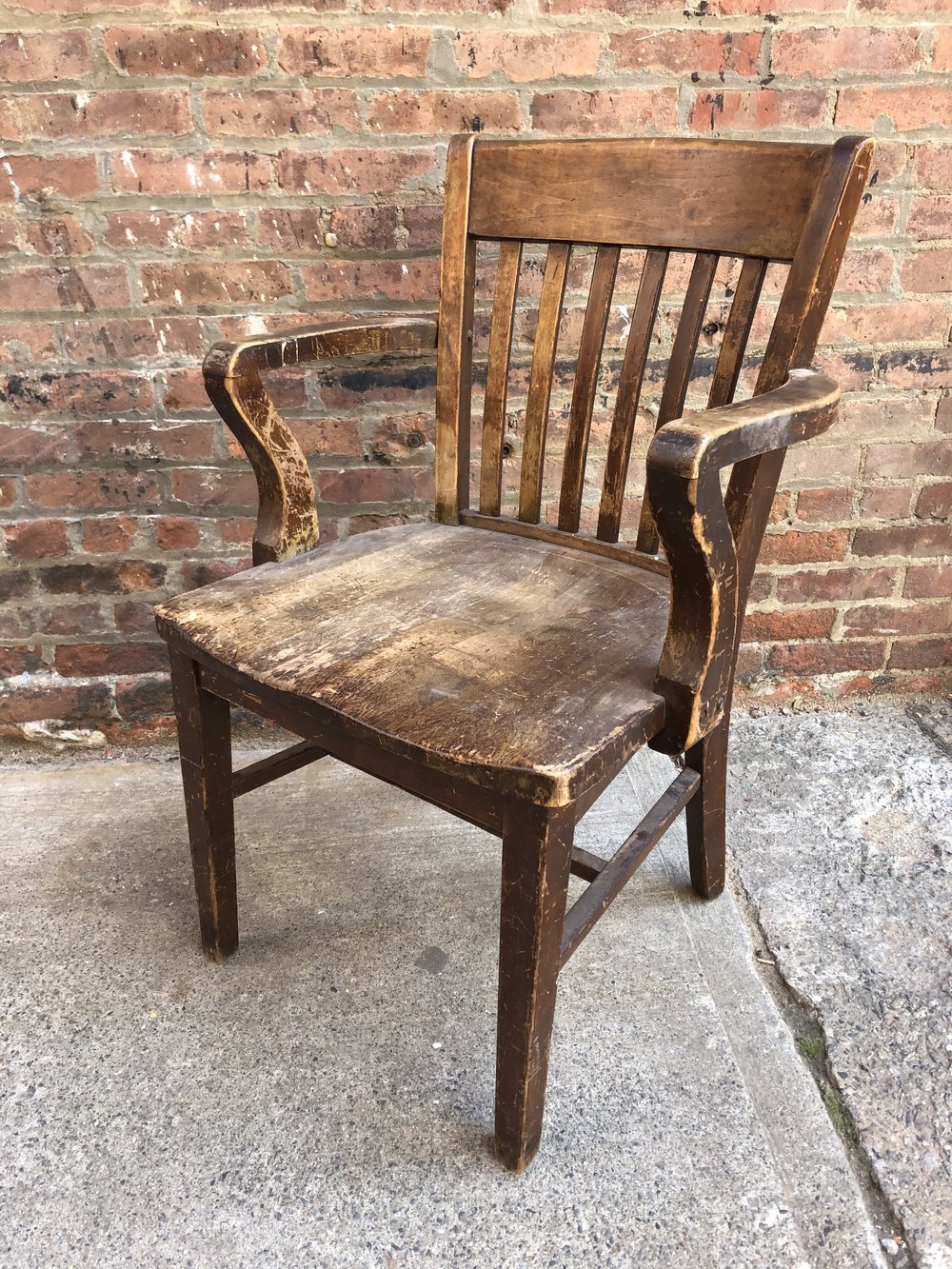 (1) Wood Library Arm Chair $50