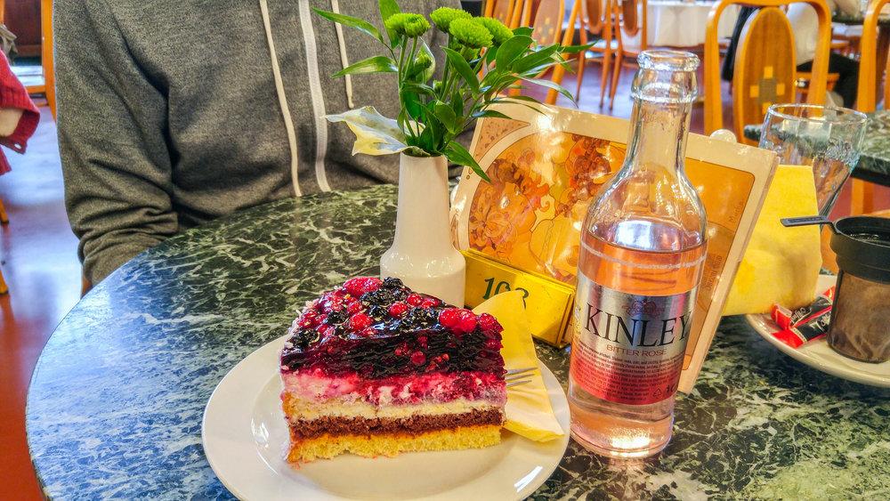 Dining at Kavárna Obecní Dům Café, Prague