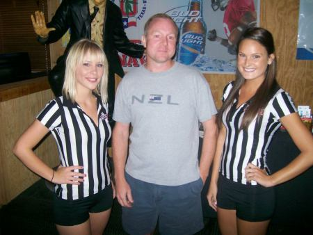 The Fantasy Girls with a listener
