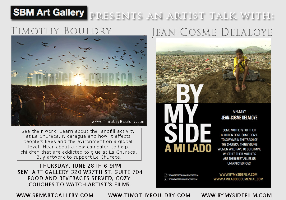 Artist talk and showing at SBM Art Gallery with Jean-Cosme Delaloye.