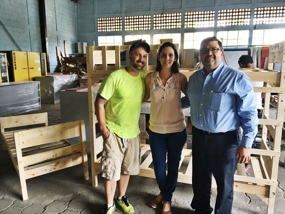 (Left to Right) Timothy Bouldry: Director of The ISWA Scholarship Programme, Daniela Aranda Cross: Project Manager at Optima Industrial and Jorge Sacasa Cross: Owner of Optima Industrial