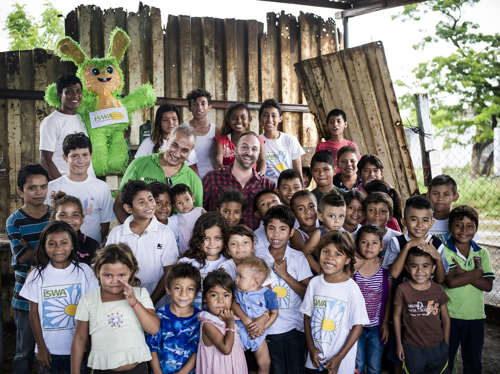 President of  ISWA ,  Antonis Mavropoulos , visits Timothy Bouldry and the  ISWA Kids  in Nicaragua.