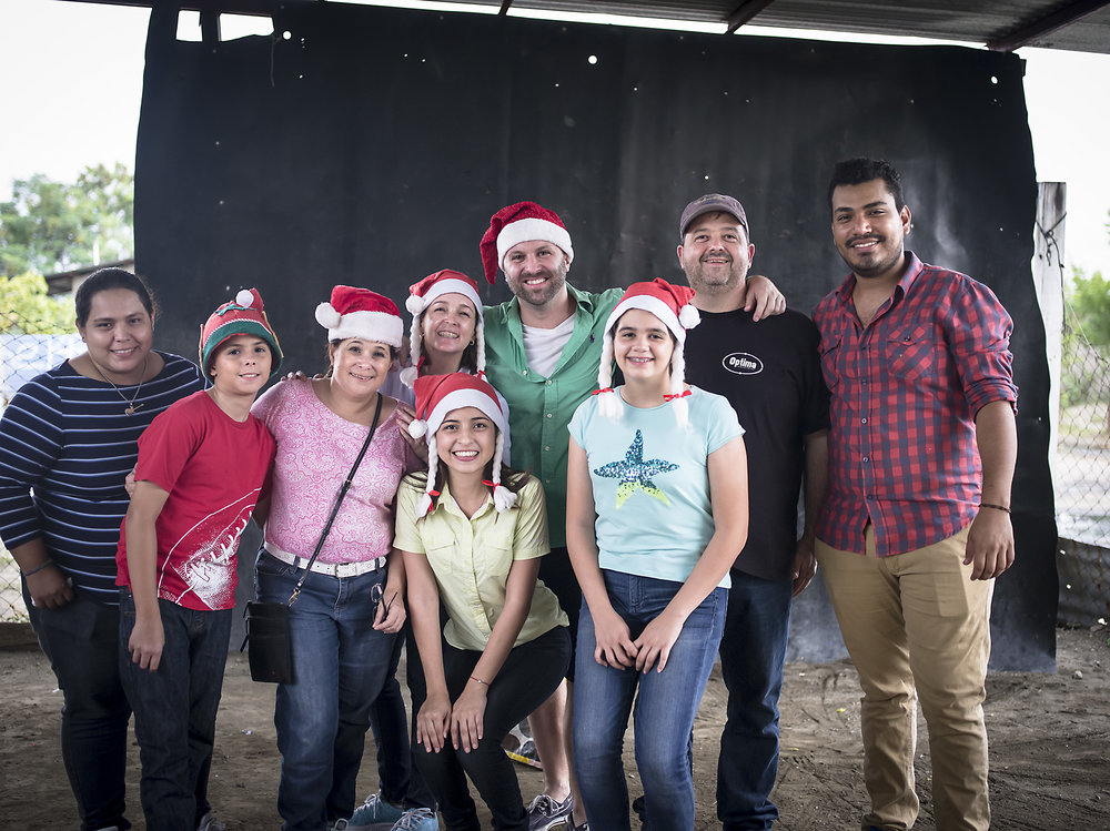 Pictured Left to Right: Eva, Alejandro, Alejandra, Carla, Monica, Timothy, Andrea, Jorge and Engelbert. Thank you all!