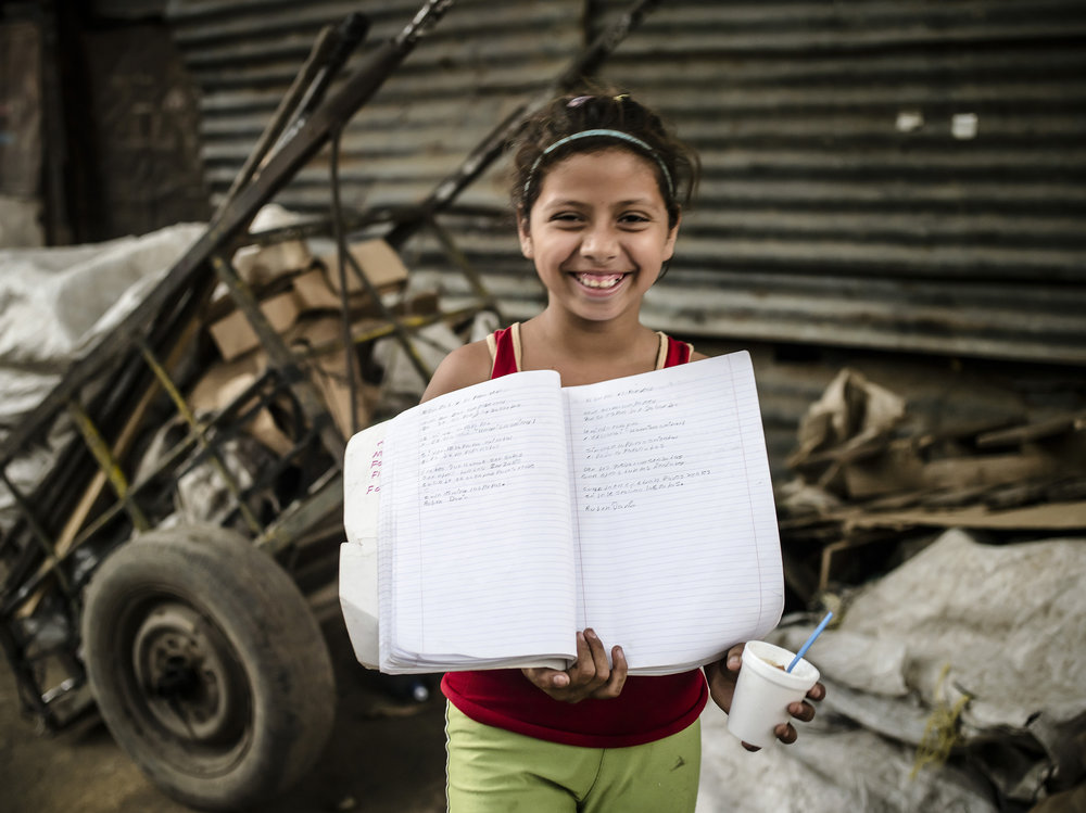 Siara shares her homework.