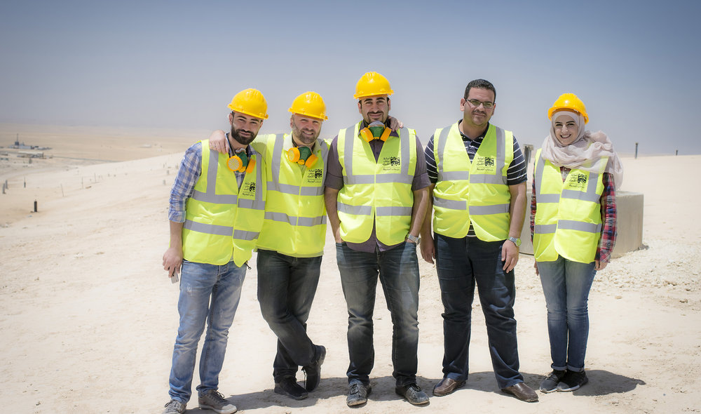 The solid waste team who accompanied me to all the dumpsites, transfer station and here, Al Ghabawi Sanitary Landfill.