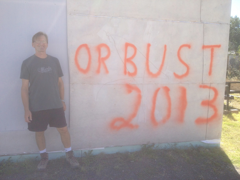 My partner Tom was very certain that 2013 would work out - until our contractor simply vanished. Now we have Billy Marginot on the job - one of the best contractors in Marfa and we are moving ahead.  There is now stucco over this graffiti.