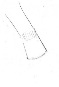 Hand: Reaching Down: Forearm, wrist block, body of hand