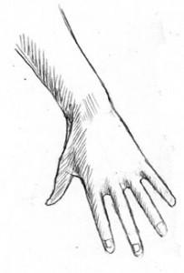 Hand: Reaching Down: Shading