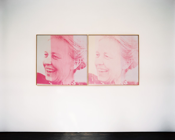 Silkscreened portraits by Andy Warhol of Menil Collection founder Dominique de Menil (Source:  Lonny )