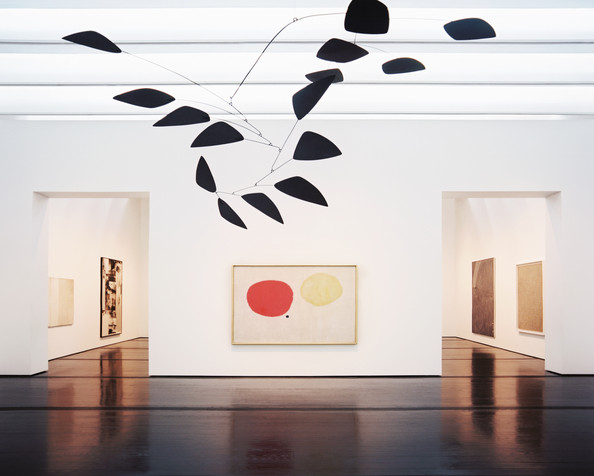A mobile by Alexander Calder and a painting by Joan Miró at Houston's Menil Collection (Source: Lonny)